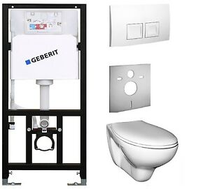 vorwandelement mit sp lkasten geberit mit wand wc ceravid wc set ebay. Black Bedroom Furniture Sets. Home Design Ideas