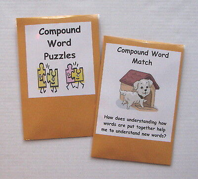 Compound Words Game (2 Teacher Made Literacy Center Learning Resource Games Compound)