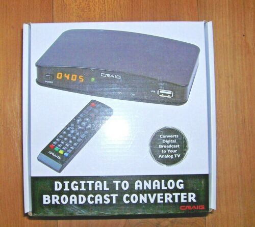 Craig CVD509 Digital to Analog Broadcast TV Signal Converter Box w/ Remote NEW