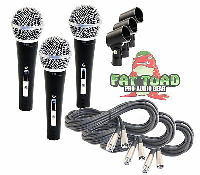 Cardioid Vocal Microphone Pack - Dynamic Handheld XLR Mic Cable 20FT Clip Studio Xlr Cardioid Dynamic Vocal Microphone