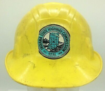 - Vintage Apex Poly Guard Hard Hat Indiana State Highway Commission Seat Sticker