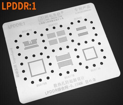 stencil for LPDDR1 LPDDR2 LPDDR3 LPDDR4/4X BGA200 BGA178 BGA134/60/168/BGA136RAM