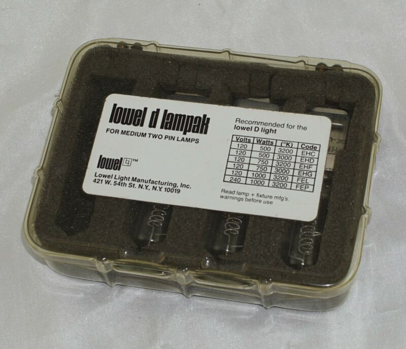 Lowel D Lampak for Medium Two Pin Lamps 750W 120V Pack of 3 in Box