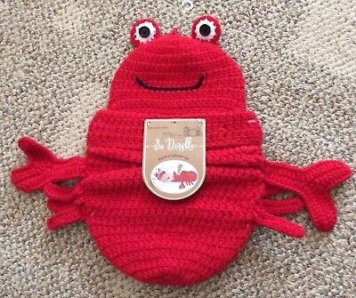 Baby Lobster Hat (So 'Dorable Infant Lobster Cocoon Photo Outfit Red Crochet Newborn Up To 10)