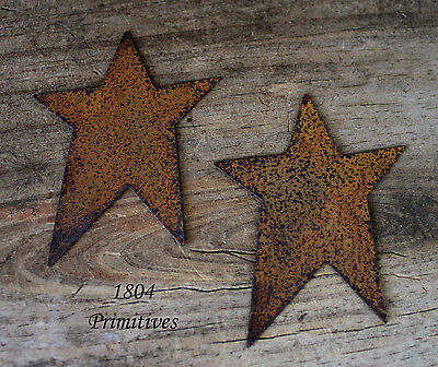 "12 ~ Primitive Rusty Tin 2 1/2"" Stars ~ Crafts on Rummage"