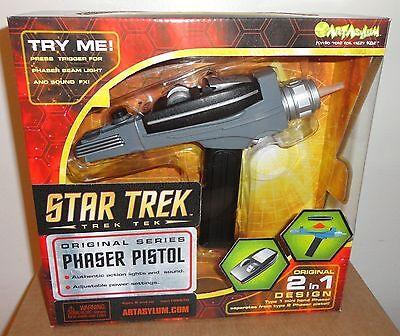 Star Trek Art Asylum / Diamond black handle toy pistol  / gun phaser replica!