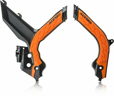 ACERBIS X-GRIP FRAME GUARDS KTM EXC EXCF 20 BLACK ORANGE KTM EXCF500 2020