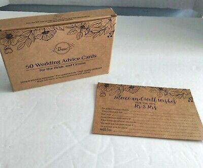 Dessie 45 Wedding Advice Cards For Bride & Groom Wedding Activity Brown
