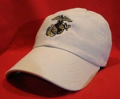 MARINE CORPS EGA Eagle Globe Anchor, stone/lt.tan Ball Cap, low-profile USMC hat