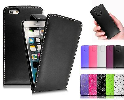 FLIP LEATHER CASE COVER FOR APPLE IPHONE 4 4S ,5,5S ,SE ,6 ,6S, 7G , 8G