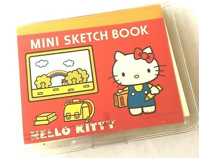 Vintage 1976 Sanrio Hello Kitty Japan Mini Sketch Book Colored Pencils Case