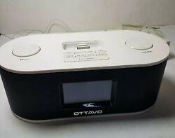 Ottavo OT1010W (30-Pin) Speaker Docking Station w/ Alarm Clock FM Radio iPhones