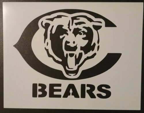 "Chicago Bears Football 11"" x 8.5"" Custom Stencil FAST FREE SHIPPING"