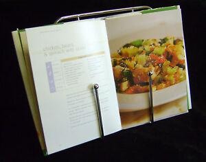 NEW APOLLO CHROME WIRE COOK BOOK RECIPE STAND KITCHEN