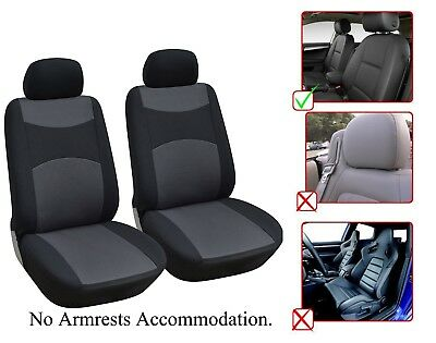 2 Front Bucket Fabric Car Seat Cover Compatible For Toyota - M1410 -