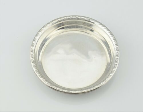 Vintage Webster Co. Sterling Silver Butter Pat Small Trinket Dish **No Mono