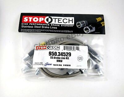 STOPTECH STAINLESS STEEL SS BRAIDED REAR BRAKE LINES FOR 07 16 BMW X5  X6 ALL