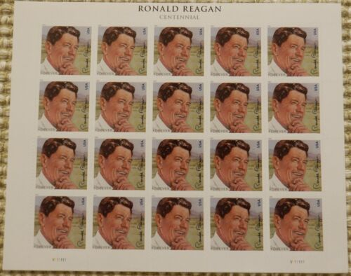 Reagan USPS Forever Stamps Full Sheet of 20 Postage Stamps, FREE Shipping
