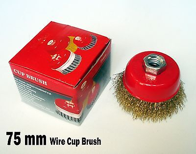 3 X 58 Arbor Fine Crimped Wire Cup Wheel Brush - For Angle Grinders