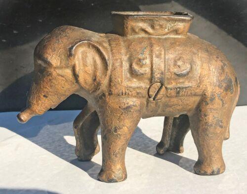 Antique Elephant Coin Bank Collectible