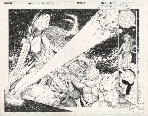 COMBAT #1 PAGE 10 & 11 SPLASH! Mark Pajarillo! Danny Miki!