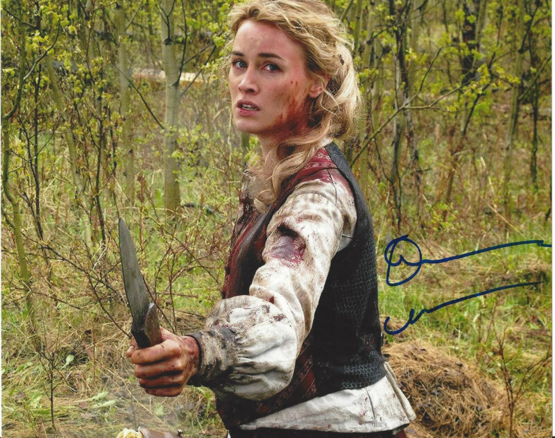 DOMINIQUE MCELLIGOTT SIGNED AUTHENTIC 'HELL ON WHEELS' 8X10 PHOTO B w/COA SEXY