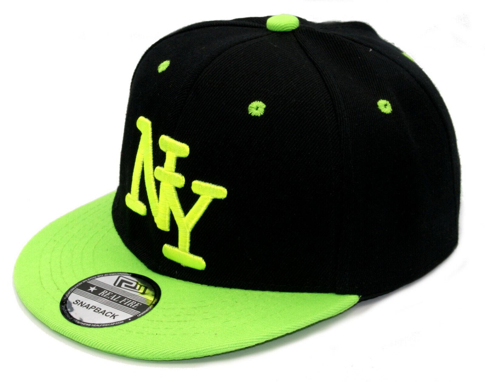 NY Baseball Cappy Herren Cap Mütze Basecap Snapback schwarz grün 54-62cm Kappe