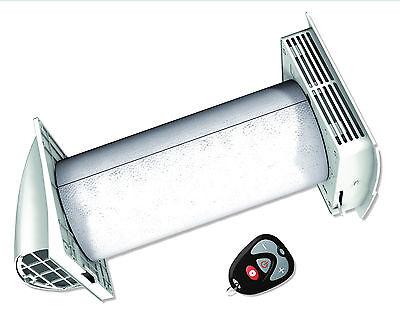 Lüftungsgerät dezentral mit Wärmerückgewinnung & Fernbedienung, Wohnraumlüftung