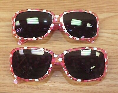 Lot of 2 Pink & White Polka Dot Girl's / Best Friends Child's Sunglasses *READ*