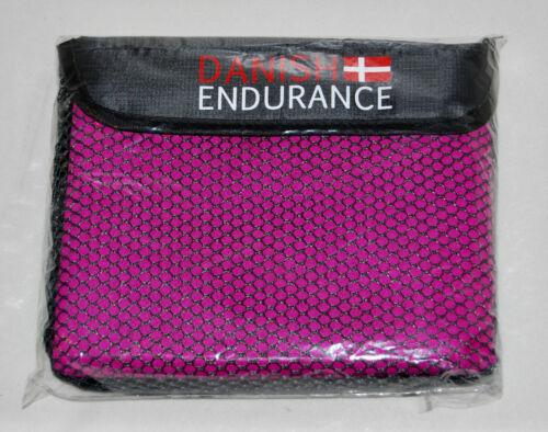 New! Danish Endurance Purple Microfiber Travel Towel for Camping Hiking