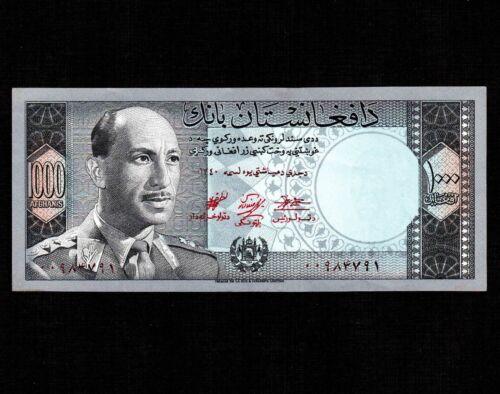 Afghanistan 1000 Afghanis 1961 P-42a * AU-UNC * King Muhammad Zahir *