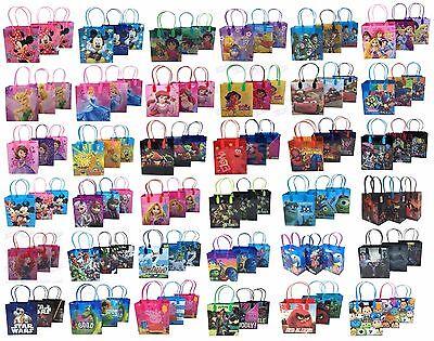 (12) Disney Nickelodeon Birthday Goody Gift Loot Favor Bags Party Supplies - Spiderman Birthday
