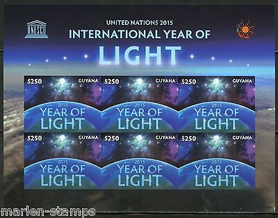GUYANA INT'L YEAR OF LIGHT  SHEET IMPERFORATED MINT NH