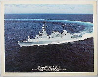 Vintage Ingalls Corvette Ingalls Shipbuilding Division Of Litton Art Print