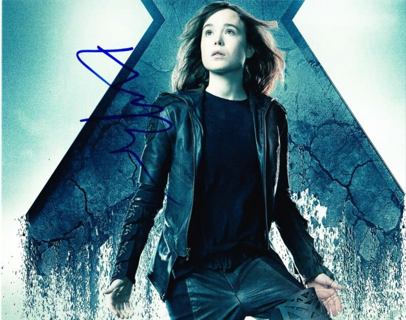 ELLEN PAGE SIGNED 8X10 PHOTO THE SIMPSONS AUTOGRAPH X-MEN DAYS OF FUTURE COA