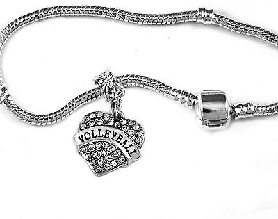 Volleyball Charm Bracelet (Volleyball Jewelry Volleyball bracelet Volleyball gift Volleyball bangle)