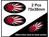Oval Fade zu Schwarz Japanische Rising Sun Drift Flag Vinyl Auto Aufkleber 150mm