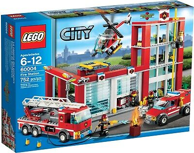 NEW SEALED LEGO 60004 CITY FIRE STATION TRUCK HELICOPTER CAR HEADQUARTER