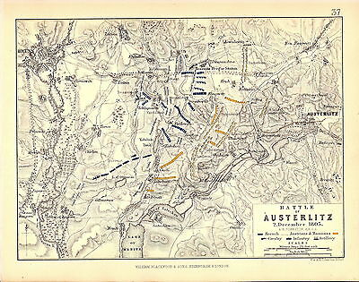 Map - Battle of Austerlitz 2 December 1805 - Napoleonic Wars