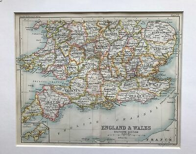 1890 Map of England and Wales Southern Section