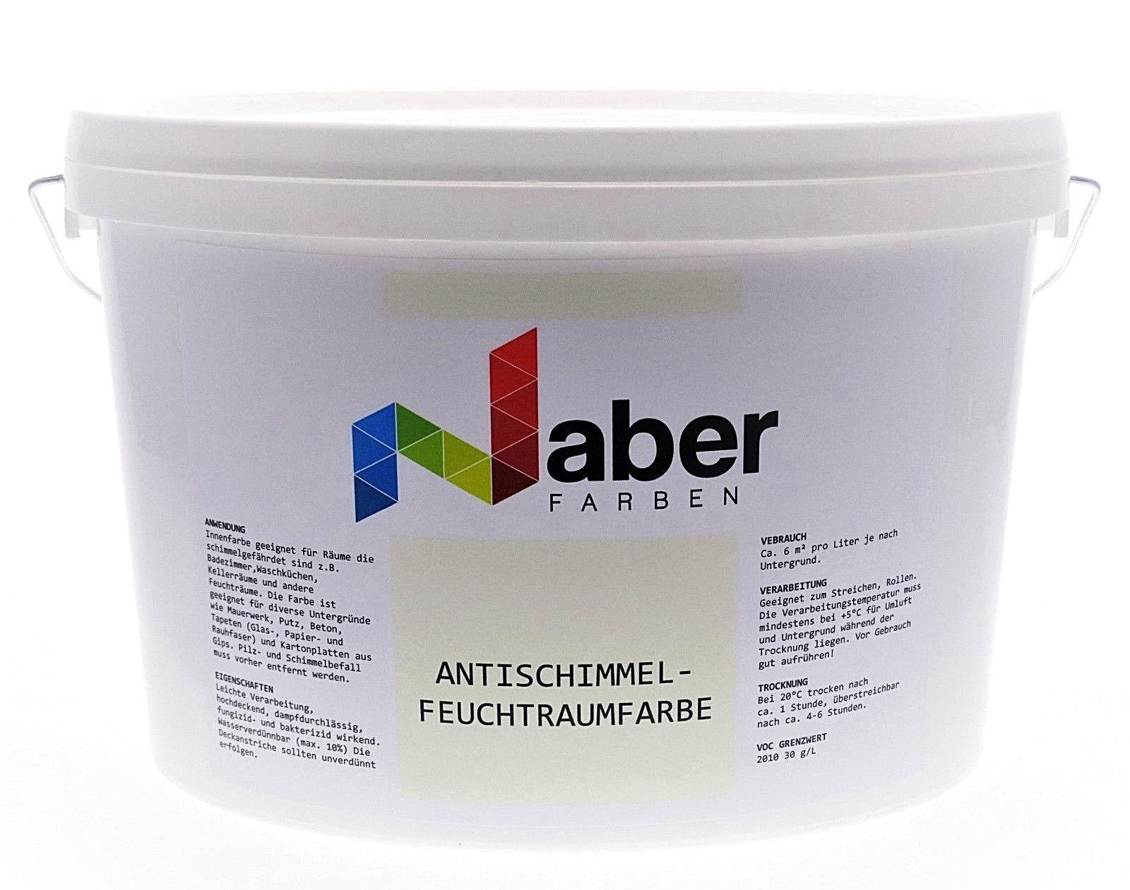 (5,99 €/L)  5 Liter  ANTISCHIMMEL - FEUCHTRAUMFARBE - Ral 9001 - Cremeweiß - Sm