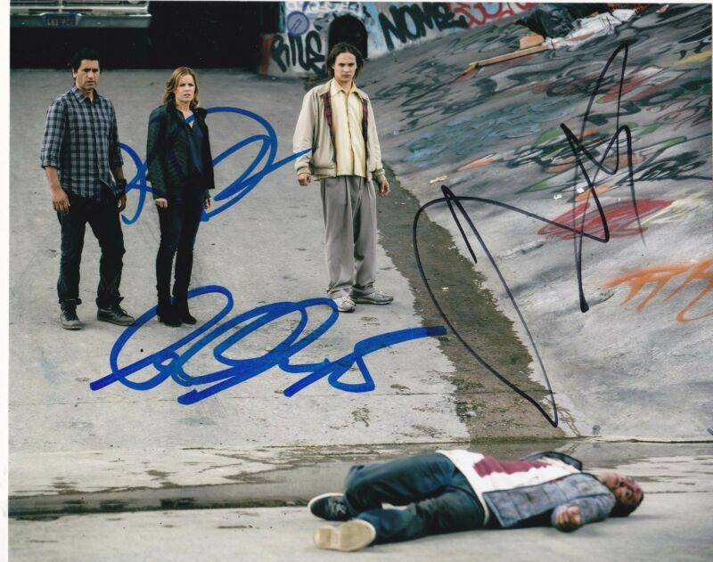 CLIFF CURTIS KIM DICKENS FRANK DILLANE FEAR THE WALKING DEAD SIGNED 8X10 PHOTO