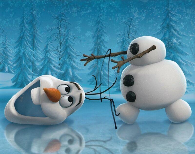 JOSH GAD signed (FROZEN) MOVIE Frozen II autographed 8X10 photo W/COA *OLAF* #6