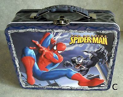 NEW old stock 2008 Spiderman 3D Tin Lunch Box/toy carrier-Marvel (C)