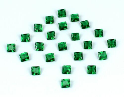 5.85 Ct Colombian Emerald Natural Gemstone Lot Princess Cut 25 Pcs Certified