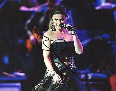 Idina Menzel Concert Hand Signed 8X10 Autographed Photo W Coa Singer Let It Go