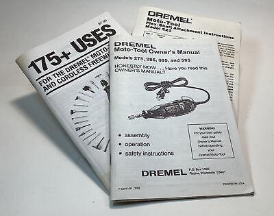 3 Dremel Moto Tool Instruction Books For Various Models