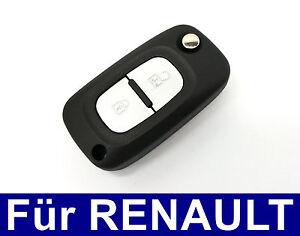 2t-REPUESTO-LLAVE-plegable-mando-a-distancia-carcasa-para-RENAULT-CLIO-MODUS