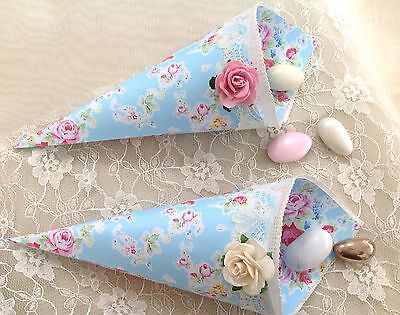 Beautiful Vintage Chic Afternoon Tea Favour/Confetti Cones (6)