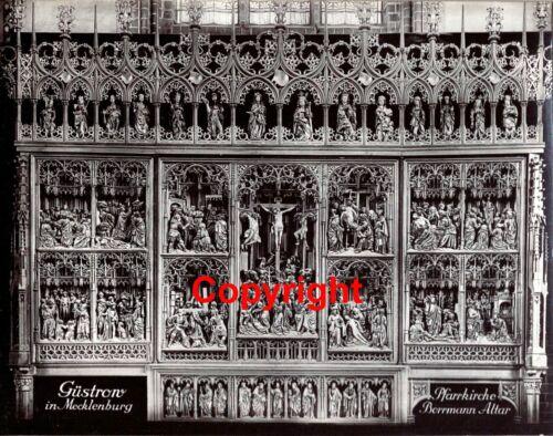 Güstrow Pfarrkirche Bormann Altar 1937 Max Baur Historische Photographie 18x23